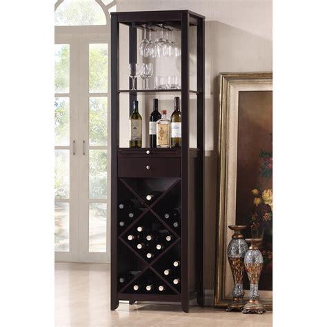 wine furniture cabinets shop baxton studio brown 20 bottle wine cabinet at