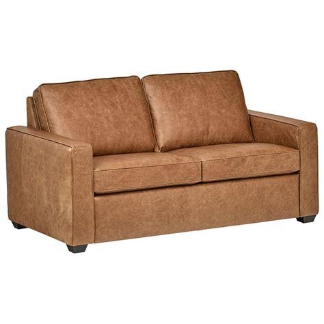 rivet andrews modern classic top grain leather sofa