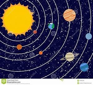 Vecotr Solar System Illustration Royalty Free Stock Image ...