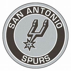FANMATS NBA San Antonio Spurs Black 2 ft 3 in x 2 ft 3