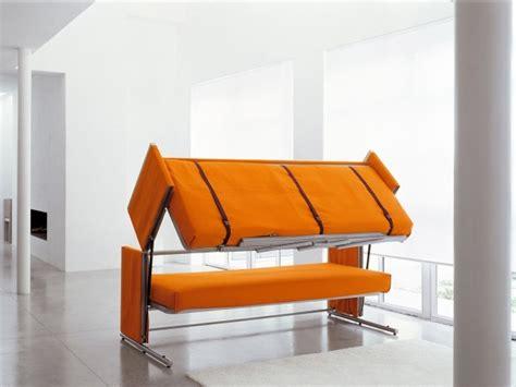 canap orange canapé convertible en lits superposés doc design et confort