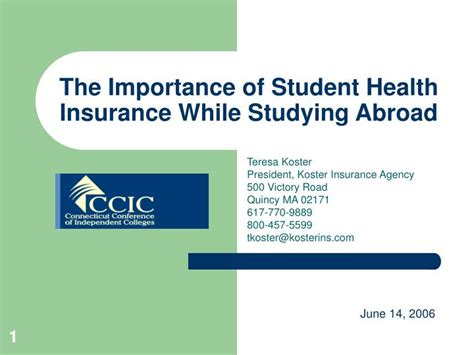 Ppt  The Importance Of Student Health Insurance While