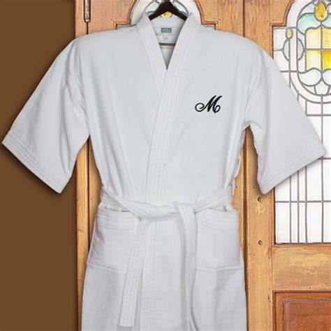 embroidered initial terry cloth cotton robe giftsforyounow