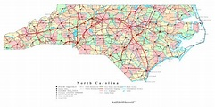 Laminated Map - Large detailed administrative map of North ...