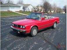 1987 BMW 325i Convertible Red cabrio E30 Automatic