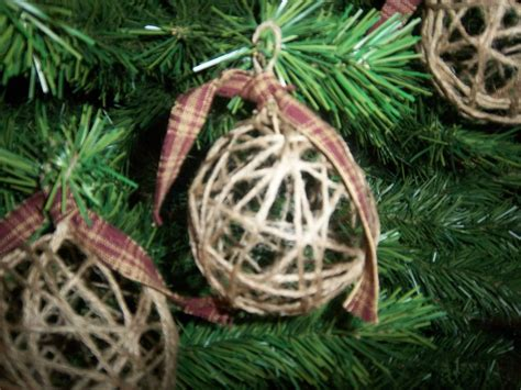 handmade jute christmas ornaments primitive country