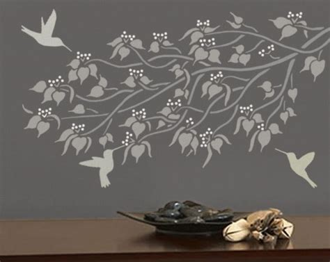 stencil designs for walls stencils for walls patterns flowers trees by olive