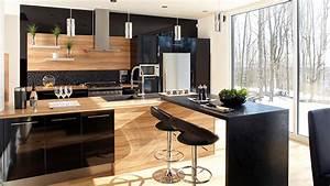 trucs deco la magie du noir les idees de ma maison With couleur mur salon tendance 14 cuisine bois et noir cuisines en bois cuisines et modles