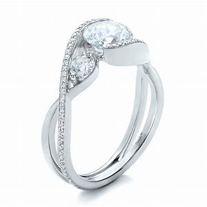 custom diamond wrap engagement ring 101472 With wrap wedding rings