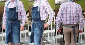 Nähen Aus Alten Jeans : sch rze aus einer alten jeans n hen und upcycling zum grillen oder arbeiten cheznu tv ~ Frokenaadalensverden.com Haus und Dekorationen