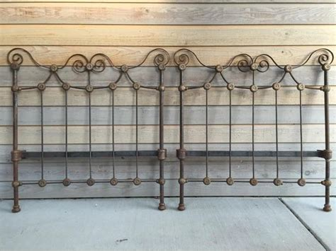 Antique Wrought Iron King Headboard by Antique Wrought Iron Headboards Saanich