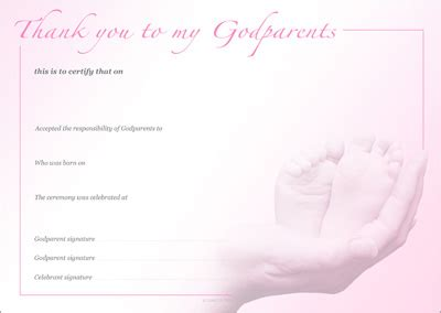 Godparent Certificate Template by Template Printable Godmother Certificate Images