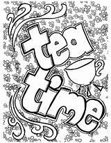 Coloring Tea Printable Adults Bookmark Colouring Coffee Adult Belgium Getcolorings Teacup Getdrawings Colorings Momsandcrafters источник статьи Cool sketch template