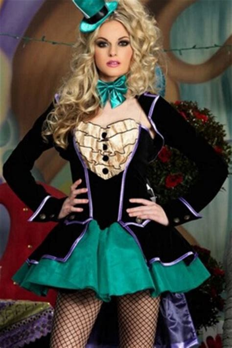 tops x s m l black mad hatter in circus costume pink