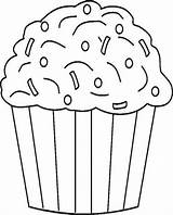 Cupcake Coloring Sprinkles Chocolate Pages Ice Cream Cupcakes Da Muffin Colorare Birthday Immagini Colouring Sheets Di Icecream Disegni Netart Cakes sketch template