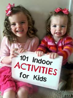 101 Fun Easy and Cheap Indoor Activities for Kids Six