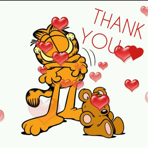 Thank You Wallpaper Animated - freetoedit garfield animation thankyou support pics