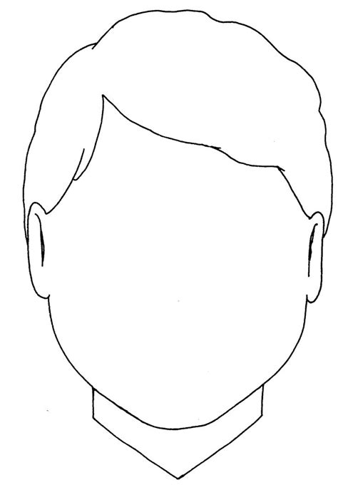 boy face pic outline clipart  face template face