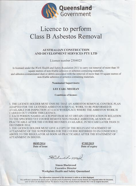 certificates licences roofinglee meehan roofing gold coast