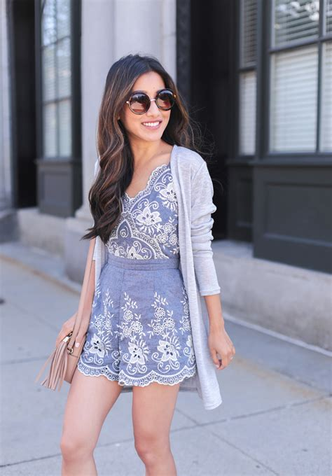 Chambray 2 ways romper and ruffle top