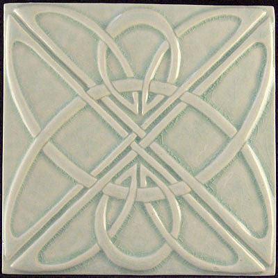 ceramic murals kitchen decorative relief carved deco celtic knot tile relief