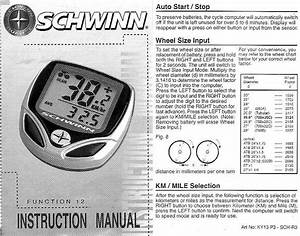 Schwinn 12 Function Bicycle Computer Manual Battery Ag12