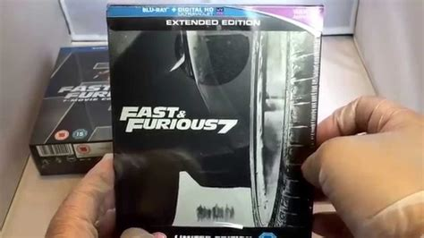 fast and furious 1 7 fast and furious 1 7 boxset unboxing