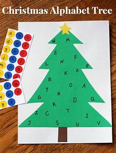 christmas alphabet sticker tree learning letters With christmas tree letters