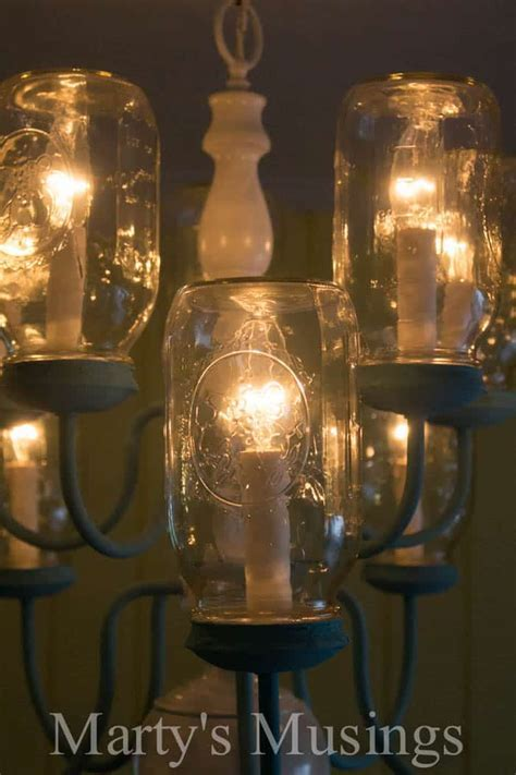 DIY Mason Jar Chandelier: Step by Step Instructions