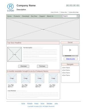 website wireframe template free website wireframe templates for word powerpoint pdf