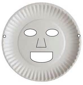 Paper Plate Face Masks