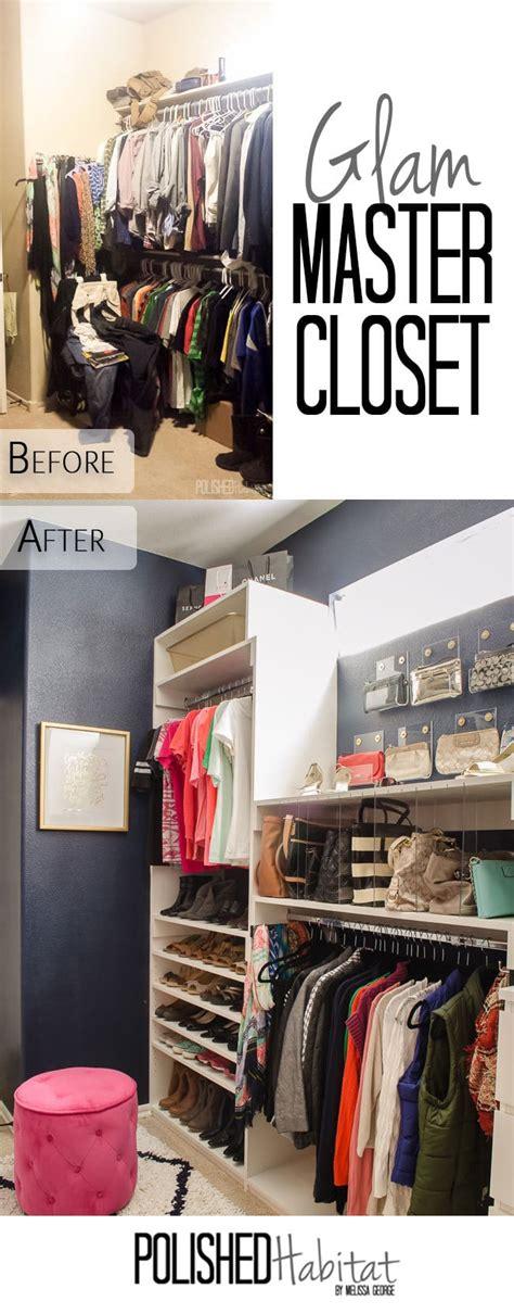 Master Closet Organization Ideas by Diy Master Closet Before After Polished Habitat