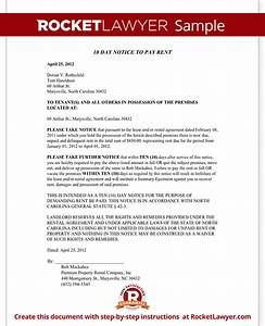 eviction notice north carolina nc notice to vacate form With eviction notice template nc