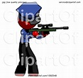 Red Police Man Shooting Sniper Rifle by Leo Blanchette ...