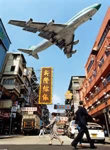 Hong Kong Kai Tak Airport Landing