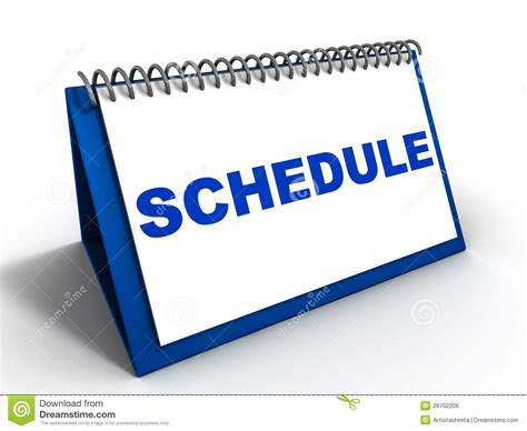 schedule clipart free remember schedule appointments stock illustration