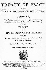 The Treaty of Versailles | chandler's blog