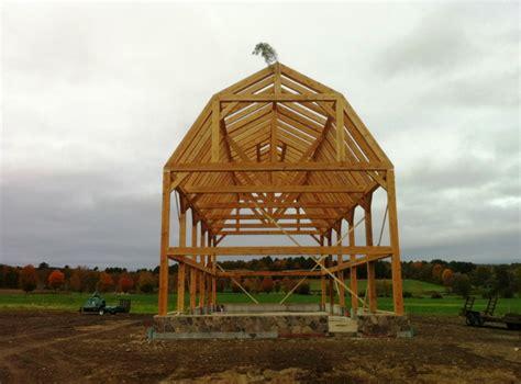 barn beams for gambrel barn frame post beam construction