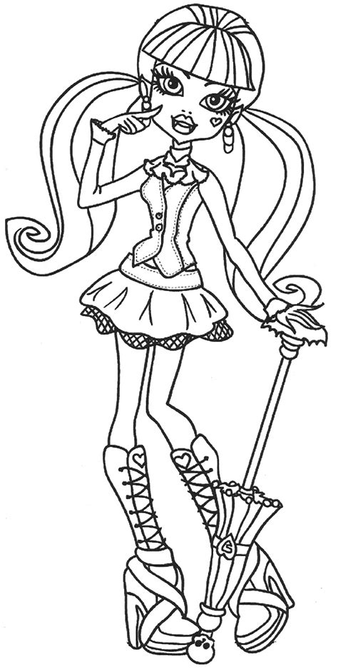 Draculaura Coloring Pages Free Elitflat