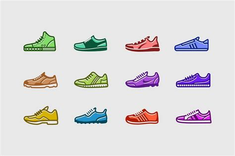 sneaker icons  images  card design icon