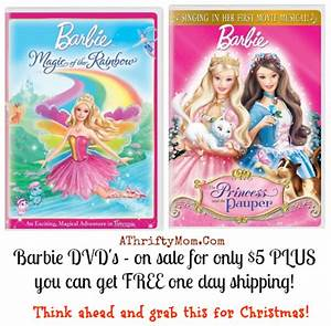 Barbie DVD S $5 shipped FREE 1 day shipping Christmas