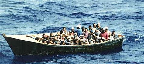 Immigrant Boat by Boat Immigrants Carrying Drugs And Arms Detained