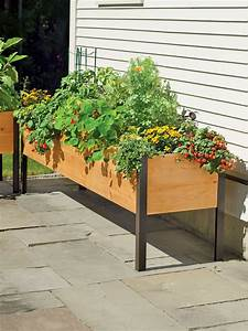 Planter, Boxes, Elevated, Cedar, Planter, Box
