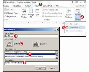 Word macros three examples to automate your documents for Word documents macros