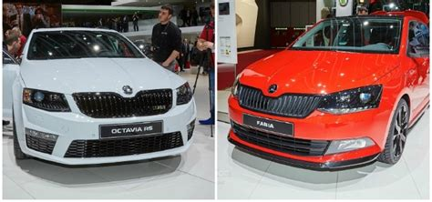 Fabia Monte Carlo And Octavia Rs 230 Show Skoda's Naughty