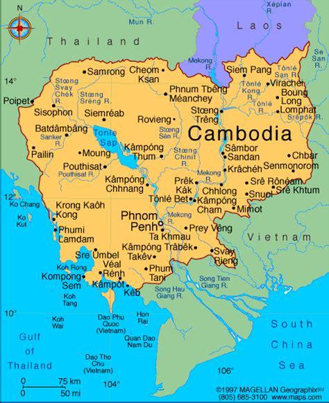 map  thailand  cambodia