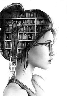 Girl reading book drawing | Books.Books.