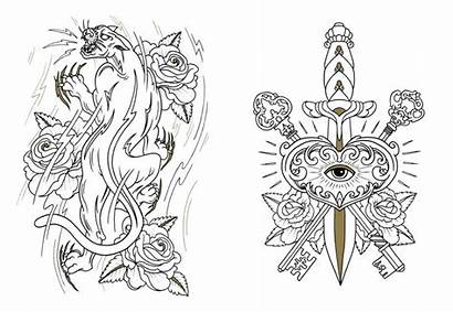 Tattoo Coloring Pages Designs Colouring Tattoos Skull