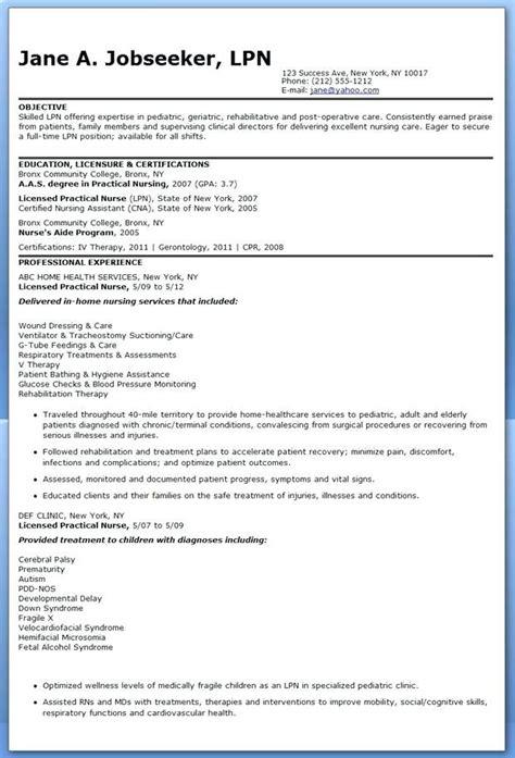 resume templates  lpn nurses lpn resume nursing