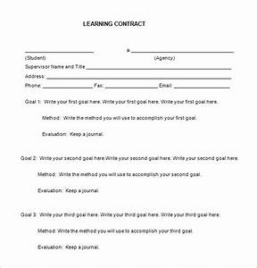 7 learning contract templates free word pdf documents for Student contracts templates
